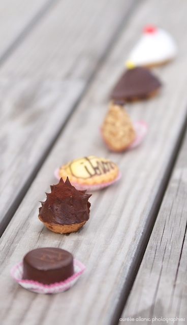 photo gâteaux alignés