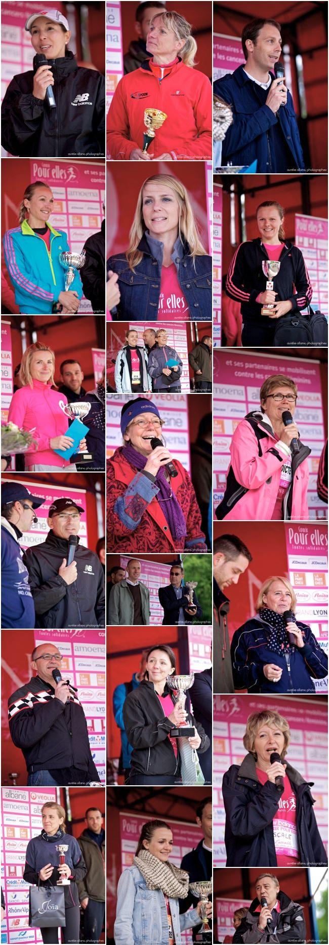 Courir POUR ELLES podiums et sponsors