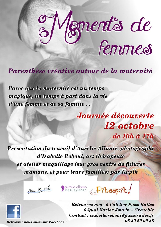 affiche expo photo événement maternité grenoble 12 octobre 2013