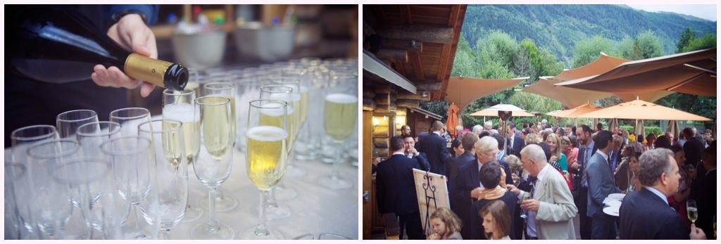 photos de vin d'honneur à la cabane du praz a chamonix