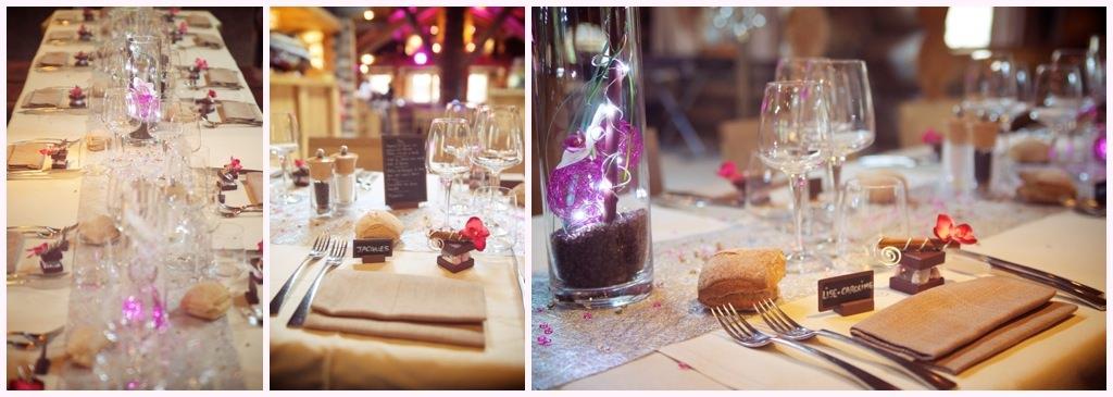 photos de décoration de table couleur violette