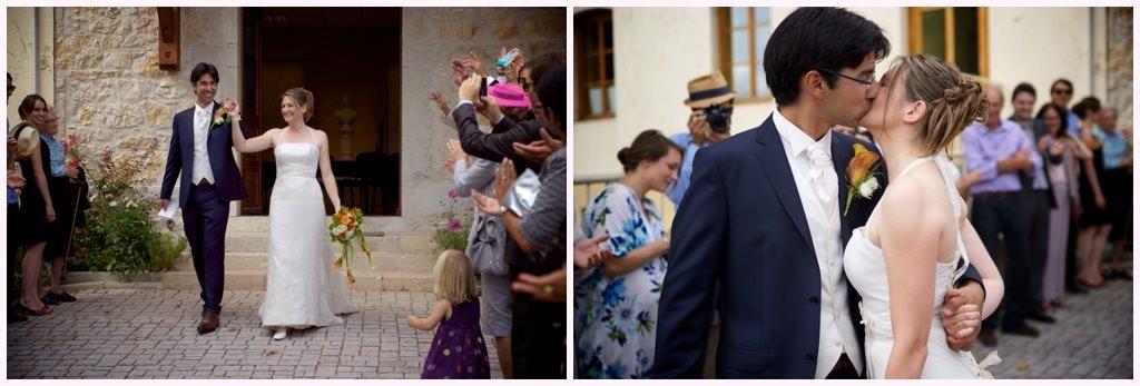 photographe mariage rhone alpes sortie de la mairie