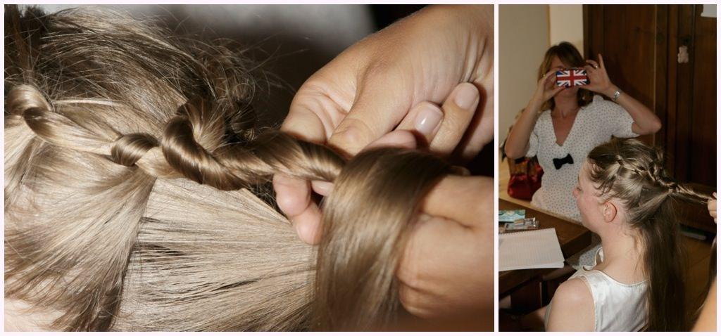photographe mariage grenoble préparatifs coiffure mariée chignon noeuds