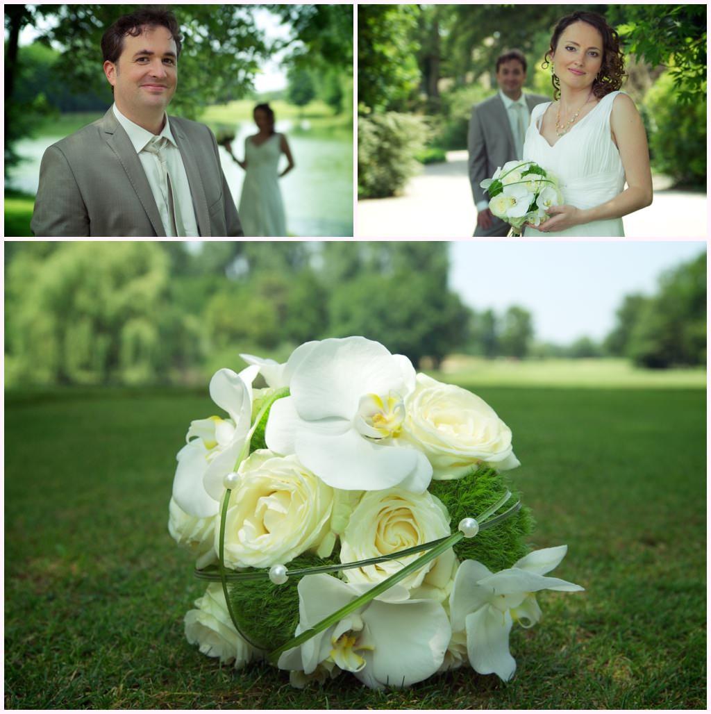 photographe mariage lyon photos de couple golf du gouverneur bouquet de mariée