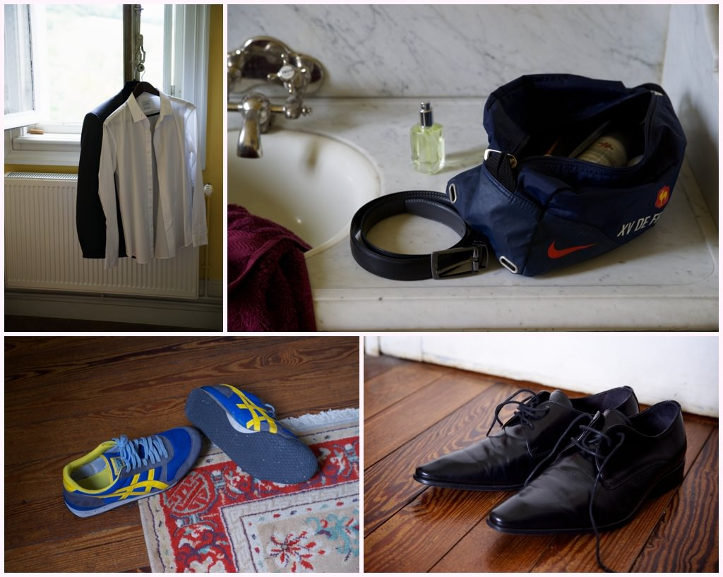 photographe mariage beaujolais préparatifs marié habillage