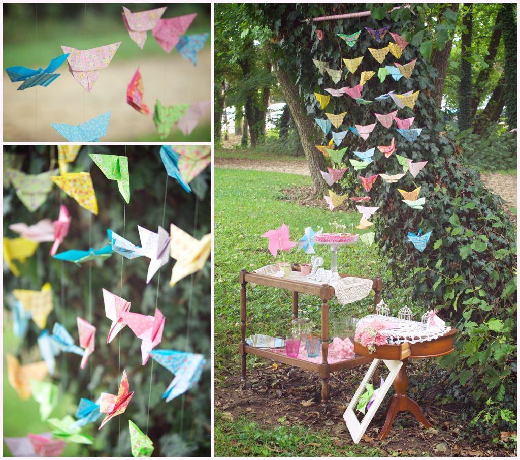 photo de mariage shooting inspiration romantique décoration origami