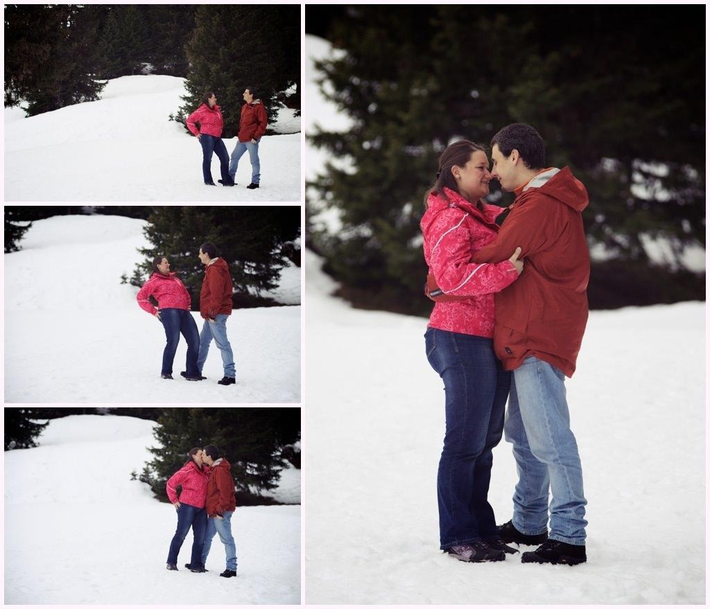 seance engagement photos couple hiver neige