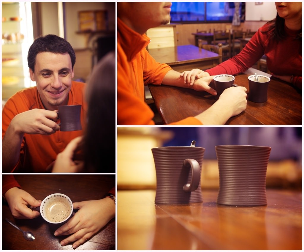 seance engagement photos couple hiver cafe chocolat chaud