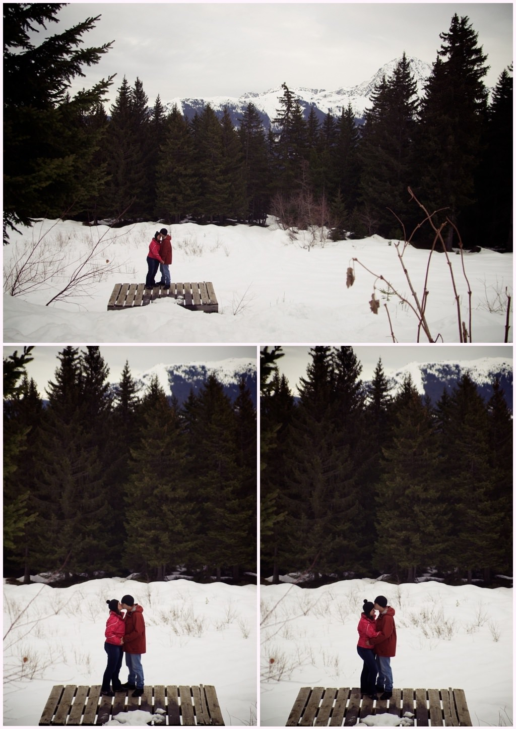 seance engagement photos couple hiver neige