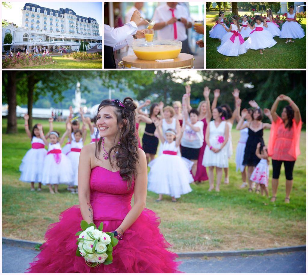 vin d'honneur impérial palace annecy mariage exceptionnel mariée robe rose