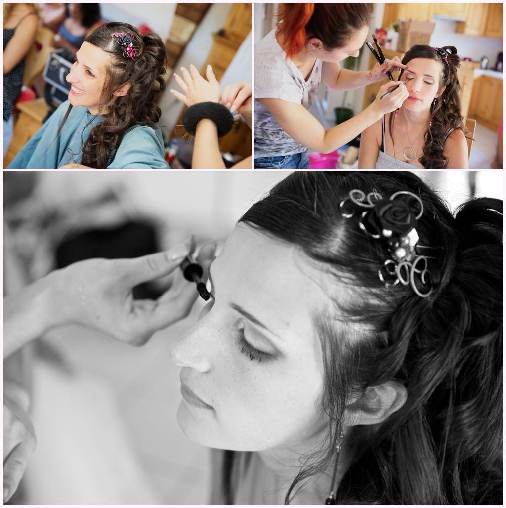 préparatifs de la mariée maquillage de la mariée