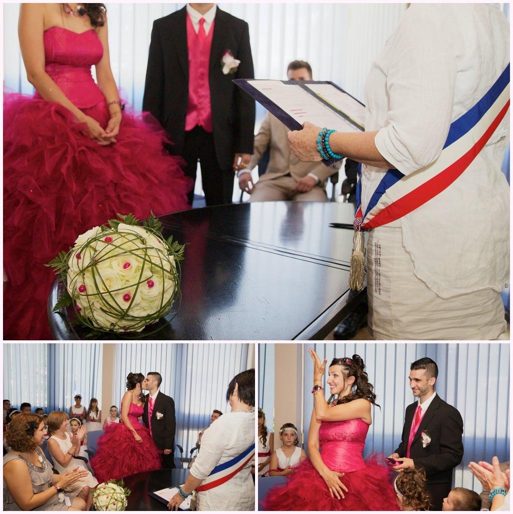 mariage mairie mariée robe rose mairie aime