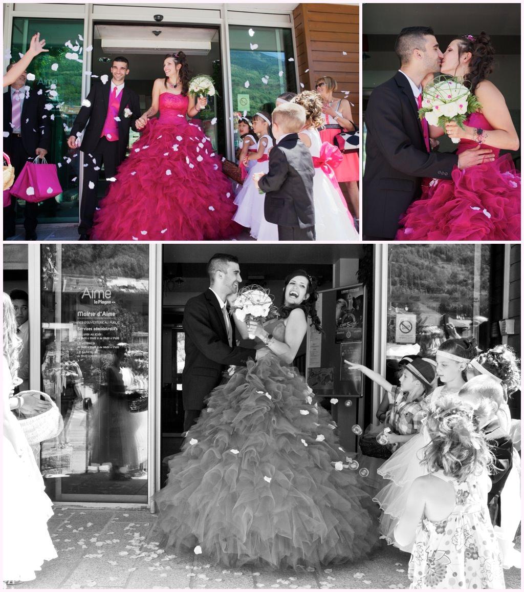 mariage photo sortie de mairie aime