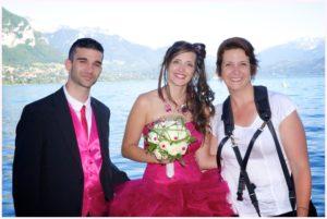 photographe et les mariés