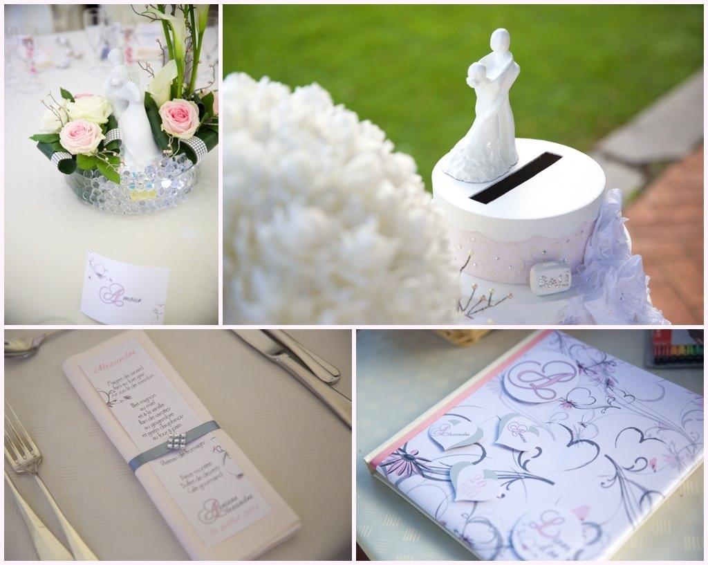 photo de décoration mariage en blanc château de montalieu saint vincent de mercuze