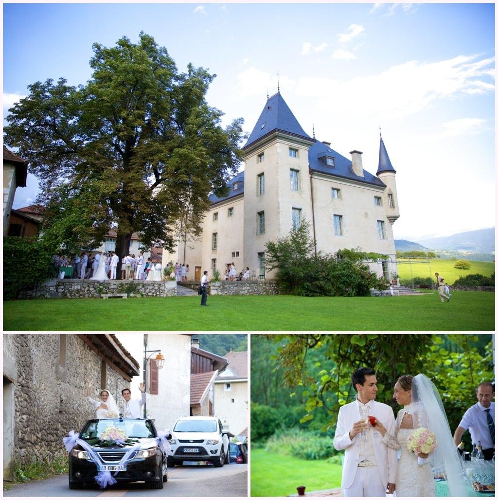 photo de mariage en blanc château de montalieu saint vincent de mercuze