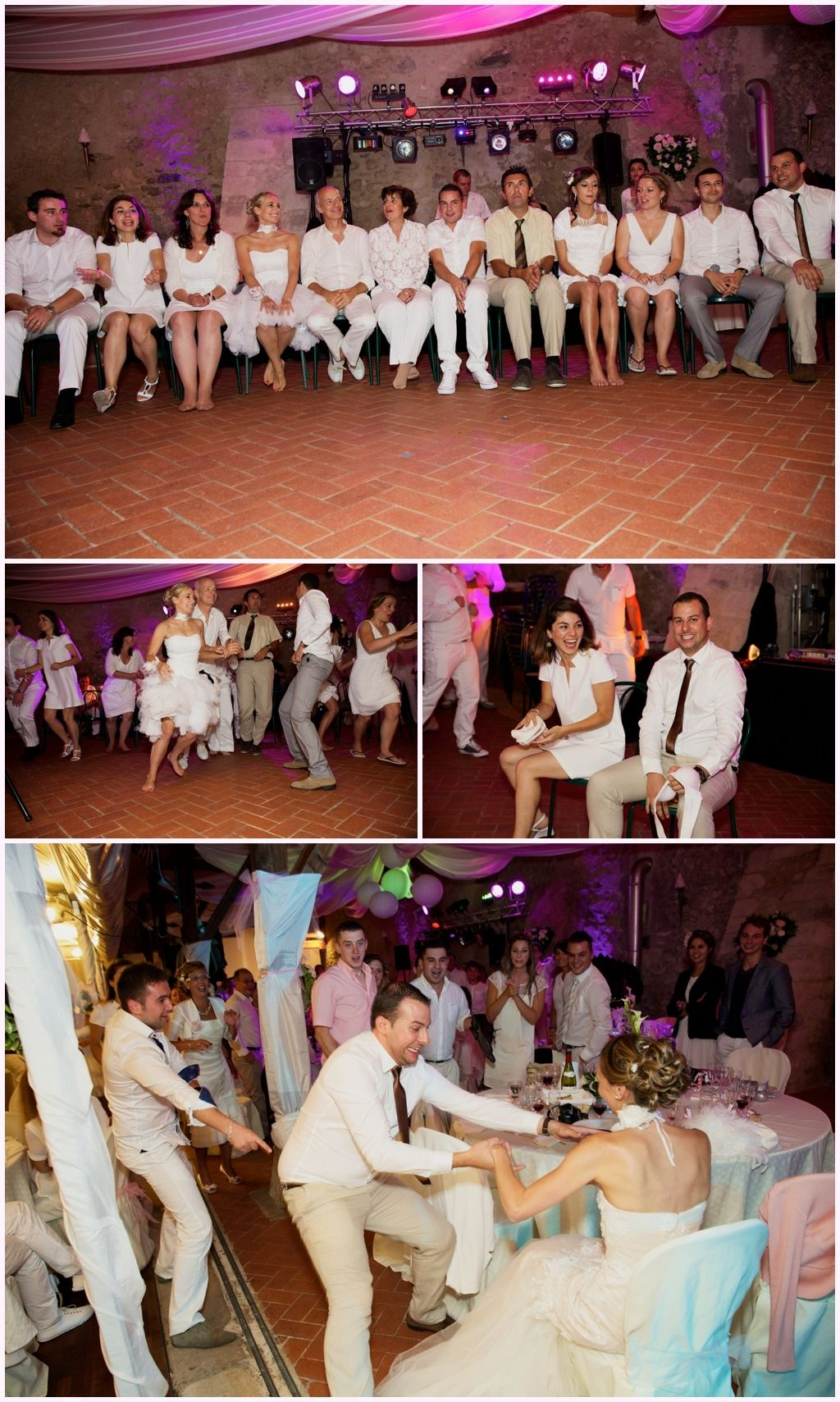 photos soirée mariage chic en blanc château de montalieu saint vincent de mercuze
