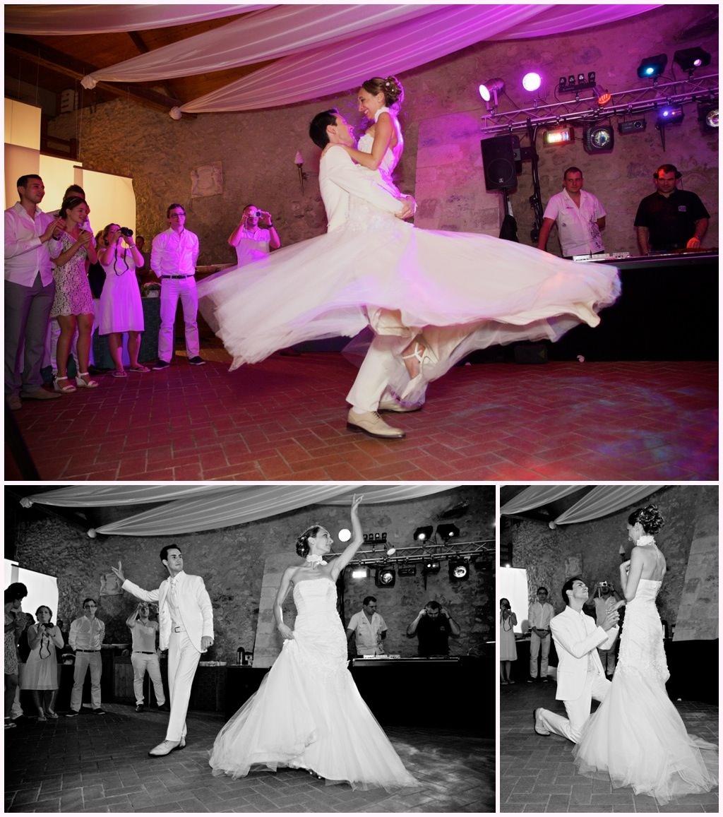 photos soirée mariage chic en blanc château de montalieu saint vincent de mercuze ouverture du bal