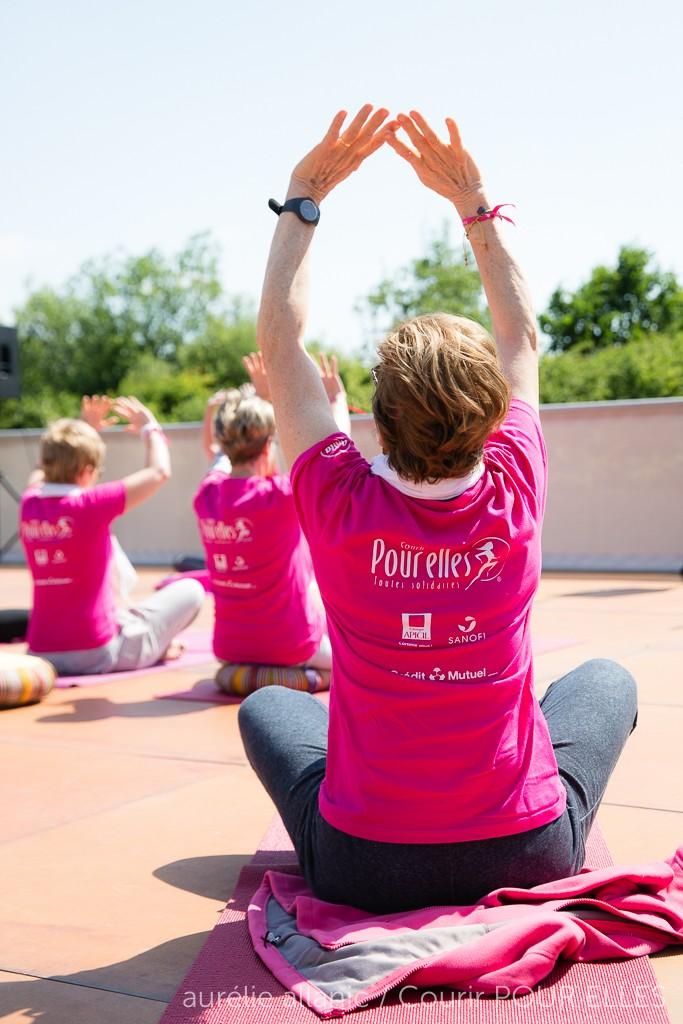 Courir POUR ELLES 2015  yoga