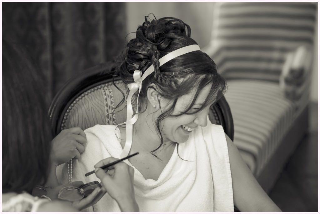 préparatifs mariage comtes de challes maquillage