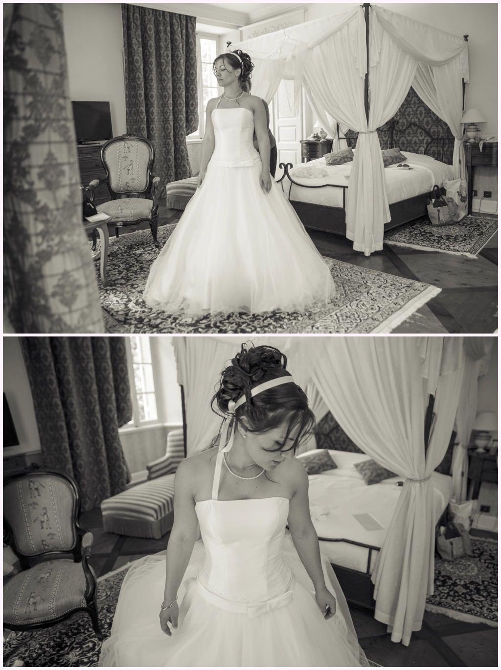 préparatifs mariage comtes de challes habillage de la mariee