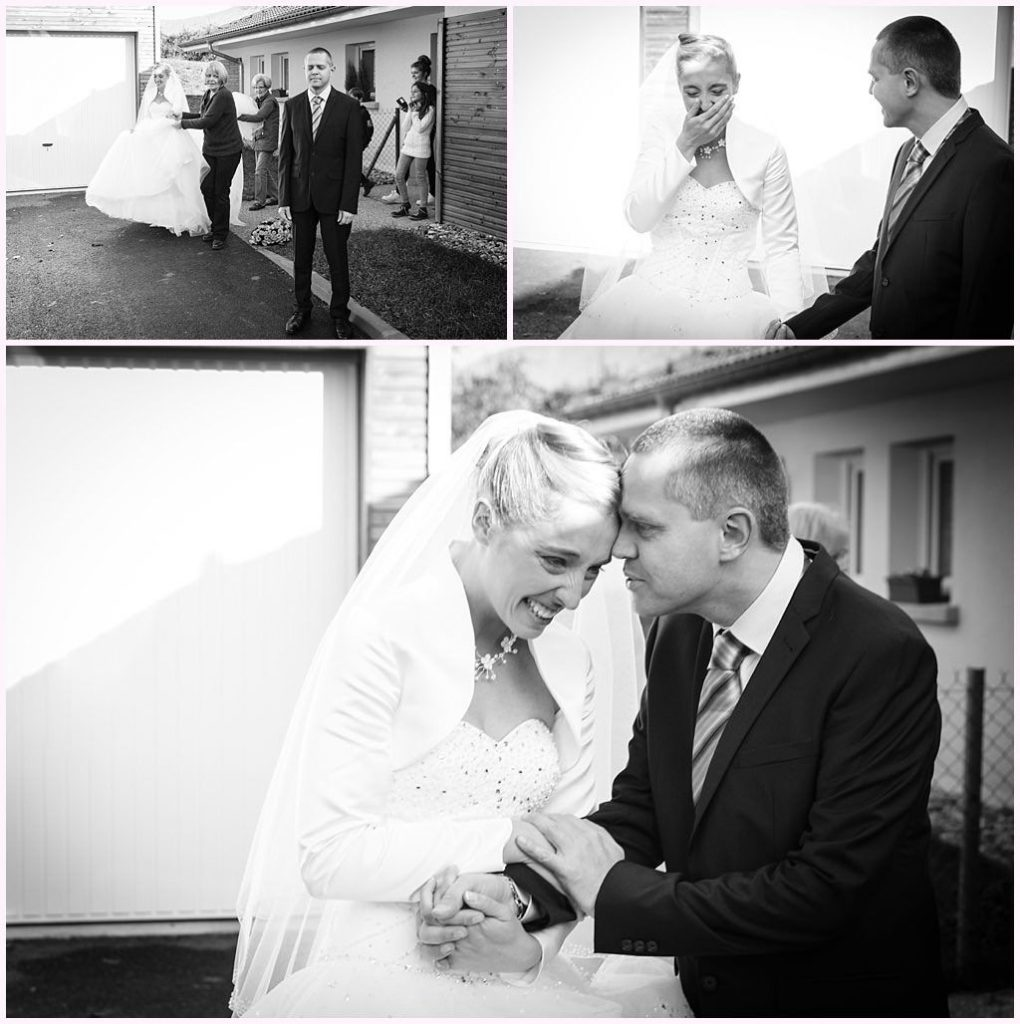 photographe mariage le touvet first look premier regard