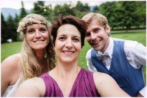 wedding selfie château de candie photographe mariage chambery
