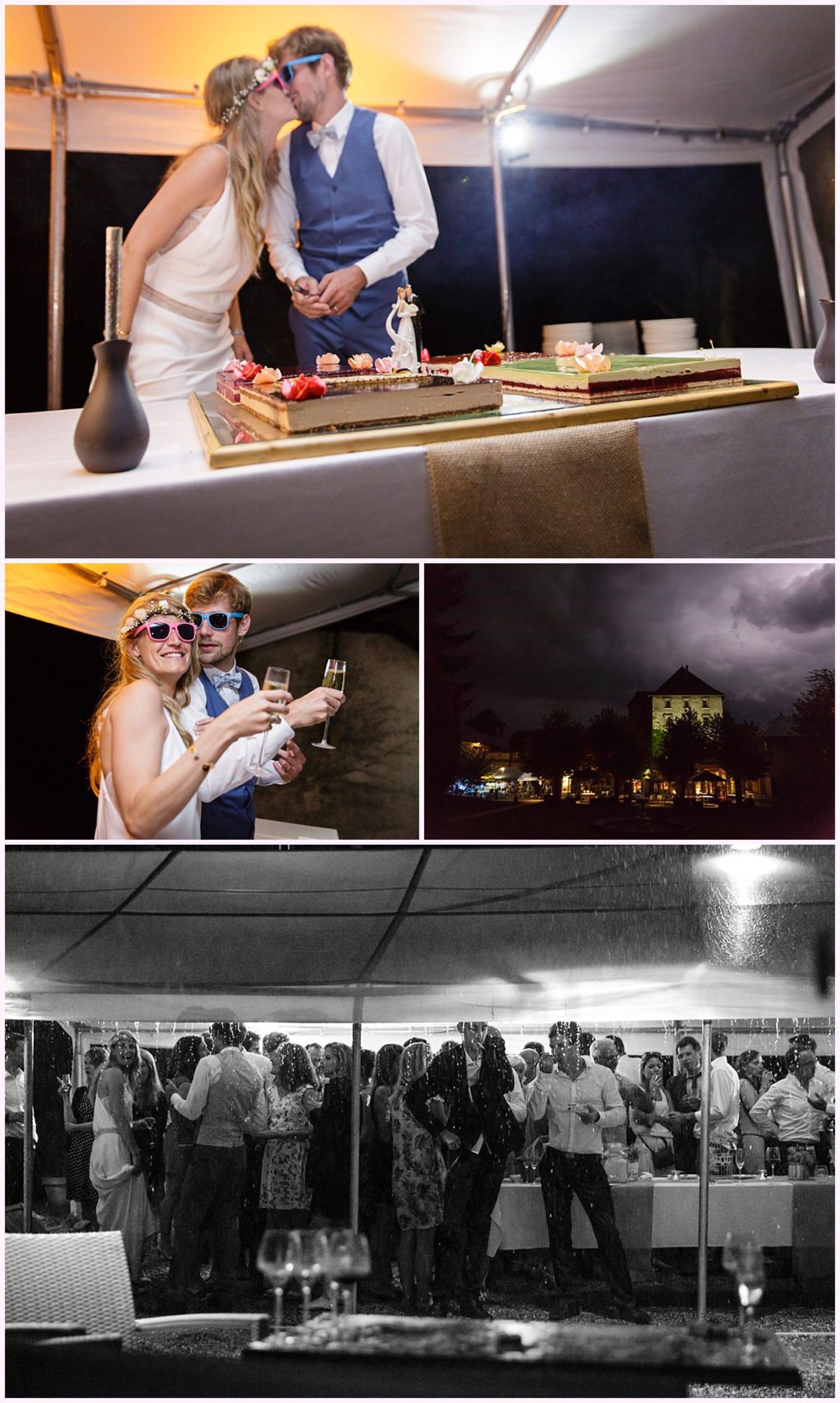gâteau mariage château de candie photographe mariage chambery