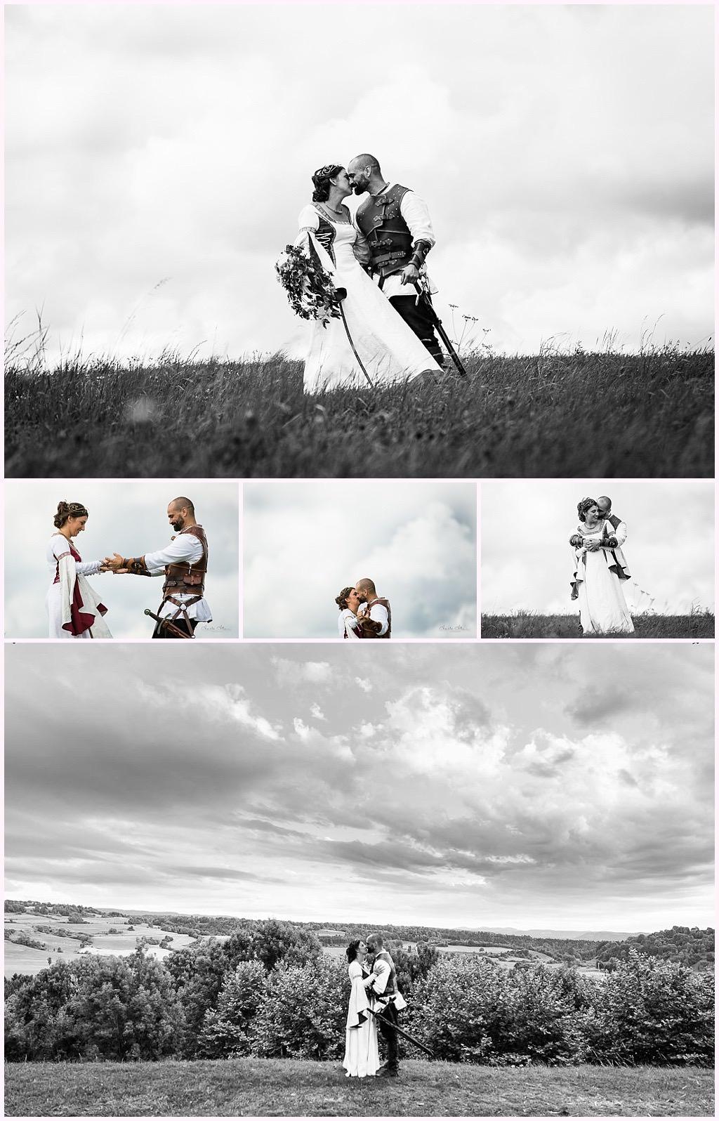 photos de couple mariage en costume photographe mariage medieval nozeroy photographe aurelie allanic