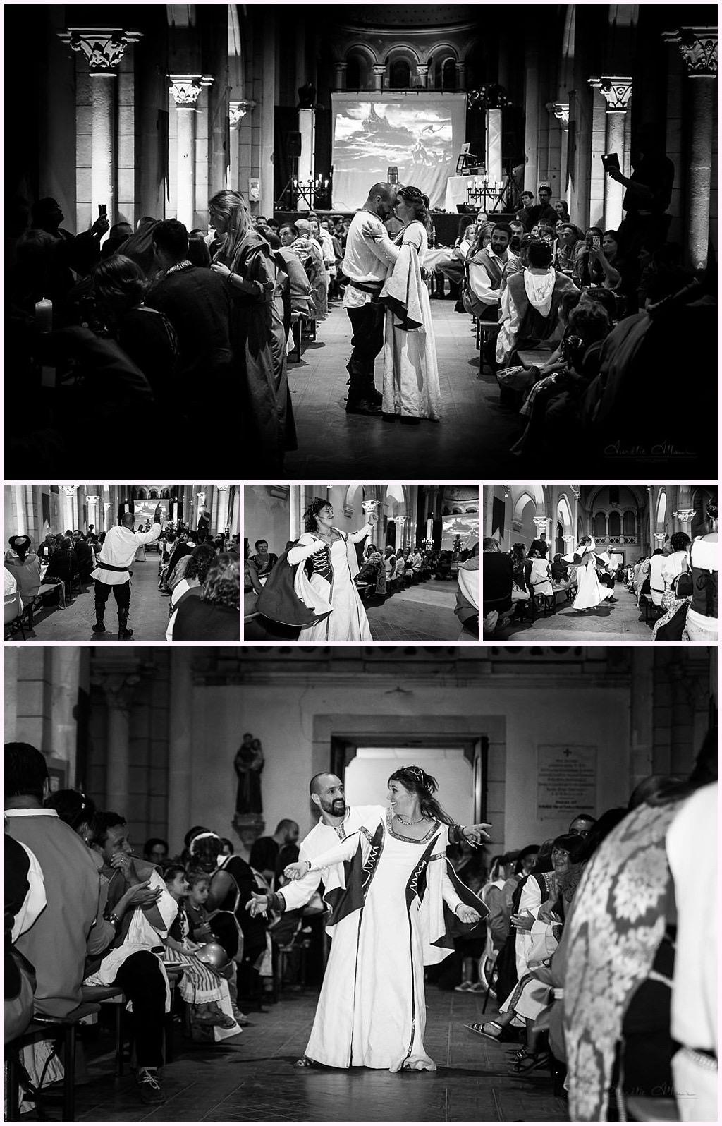 soirée mariage médiéval chapelle désacralisée nozeroy photographe mariage aurelie allanic