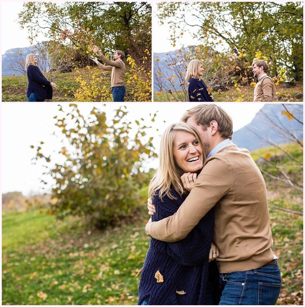 photos amoureux automne