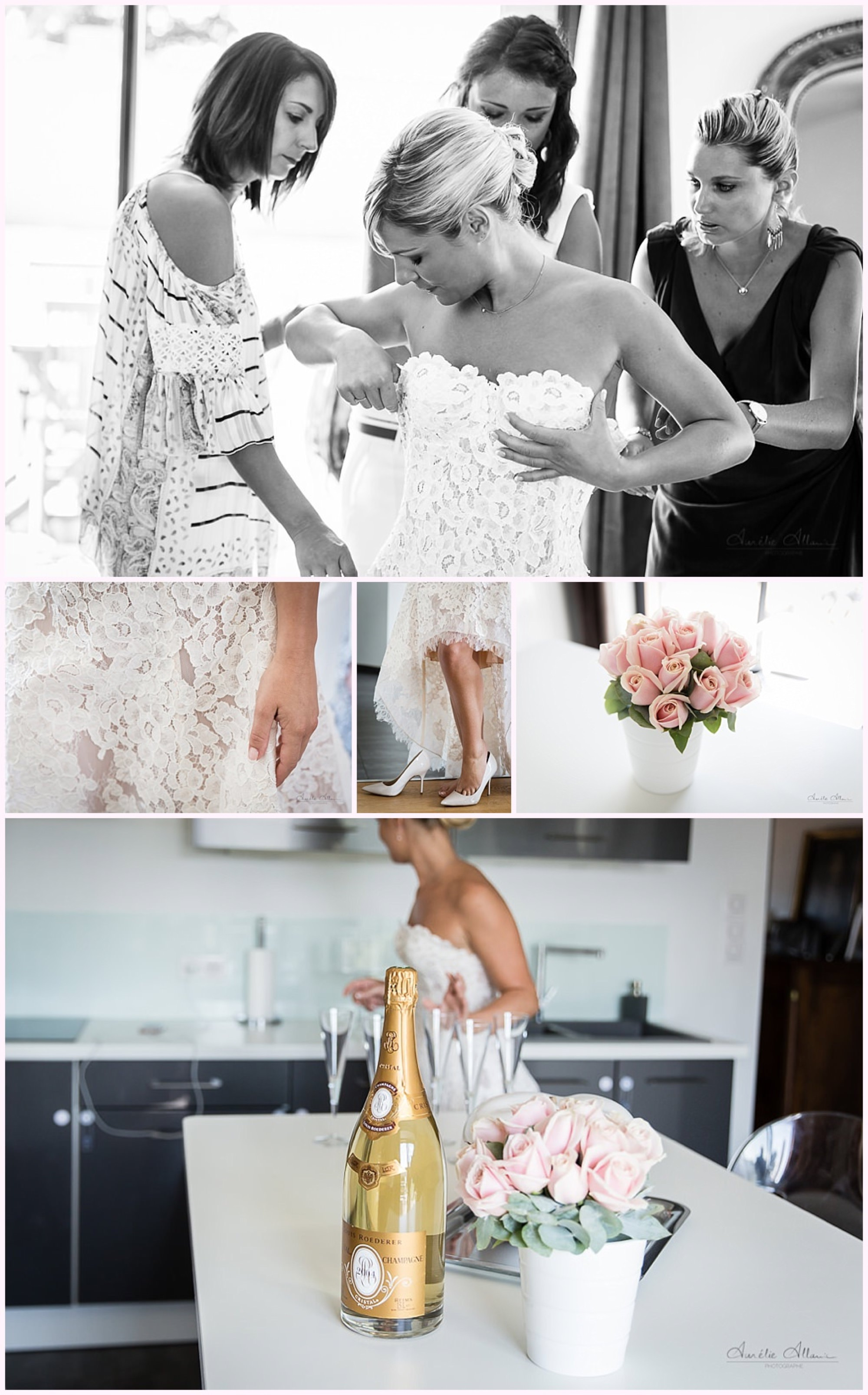 habillage mariée champagne