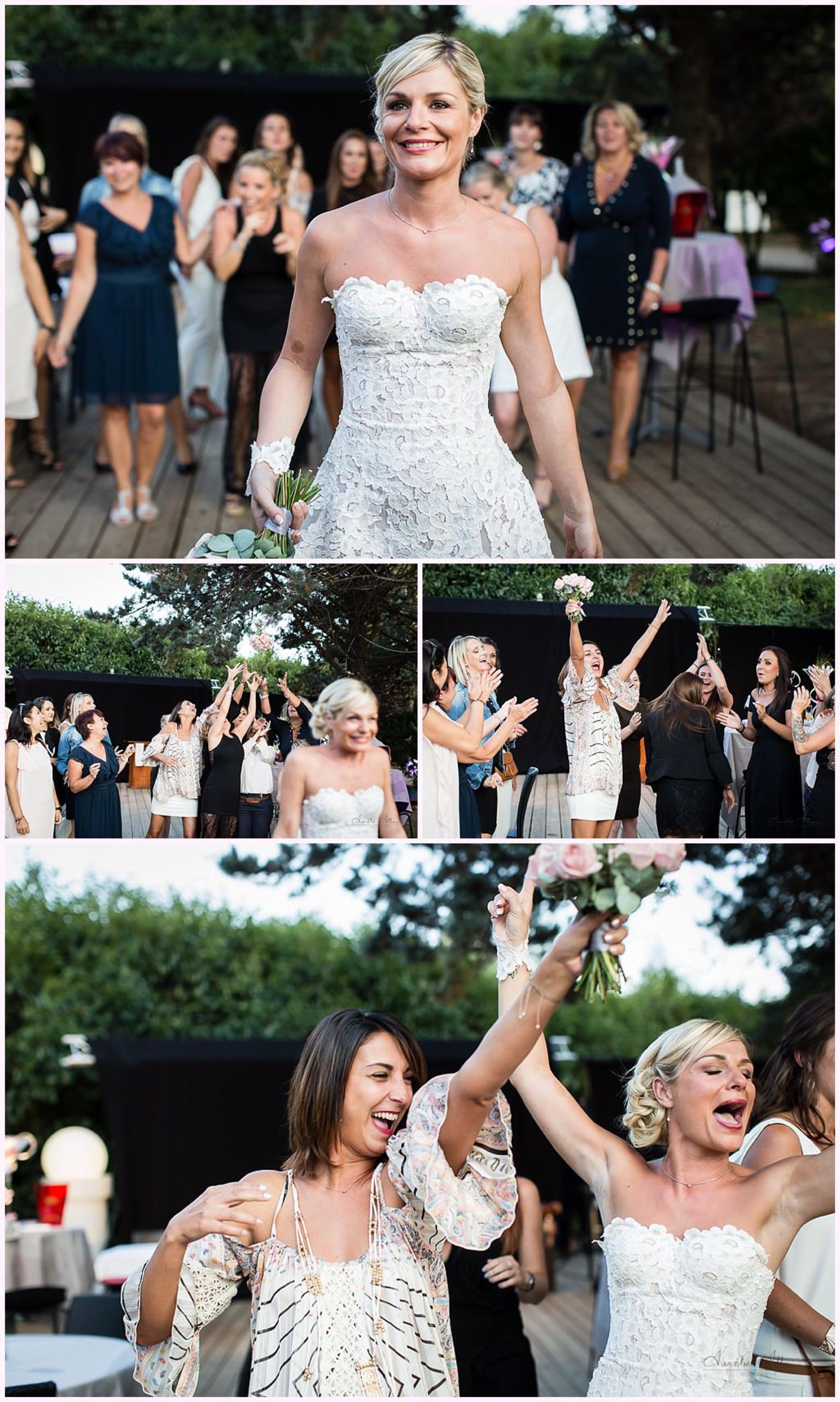 lancer de bouquet mariée